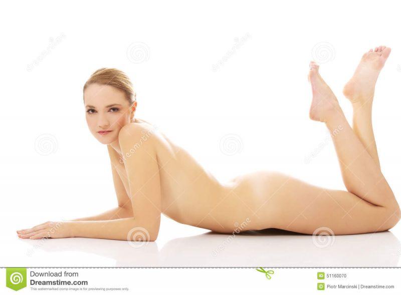 Nude Girl Lying On Stomach