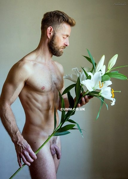 Staunch Masculinity flowers men nude