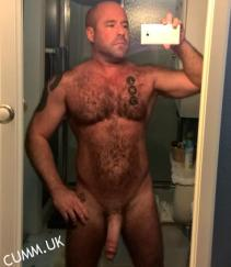cock selfie mature hairy hung bull