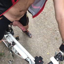 cyclist bulge red