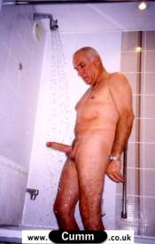 mature gent washing erection