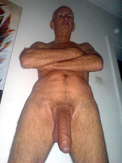 mature huge massive hung old man