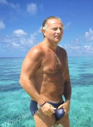 Paolo Bonolis is an italian TV host, look at his amazing speedo bulge!