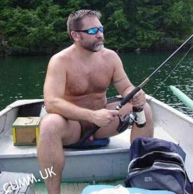 naked fishing in my boat