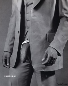 Man in Polyester Suit, a 1980 photo of the artist's lover Milton Moore wearing a three piece suit with his penis exposed, sold at Sotheby's New York for $478,000.