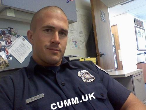 sexy cop gets his police cock out