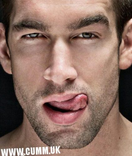 man licking his sexy lips