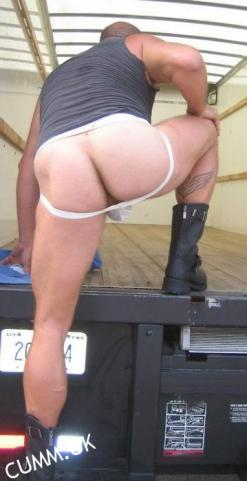 truckers manly arse