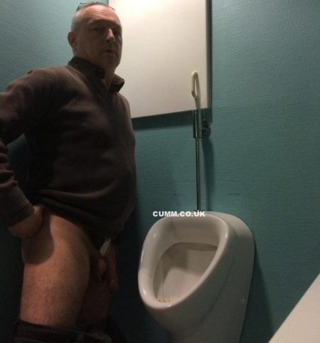 urinal boss caught pants down
