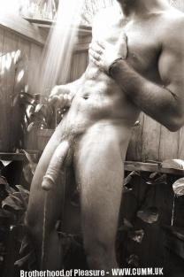washing my cock outdoors