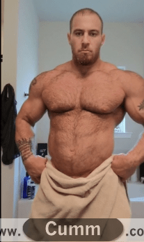what a fucking cock tease big muscle man drops the soap-and-shows-his-god arse