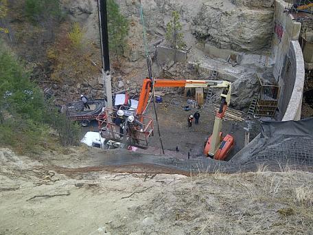 Dam rehabilitation work on Dam #2 for the City of Penticton