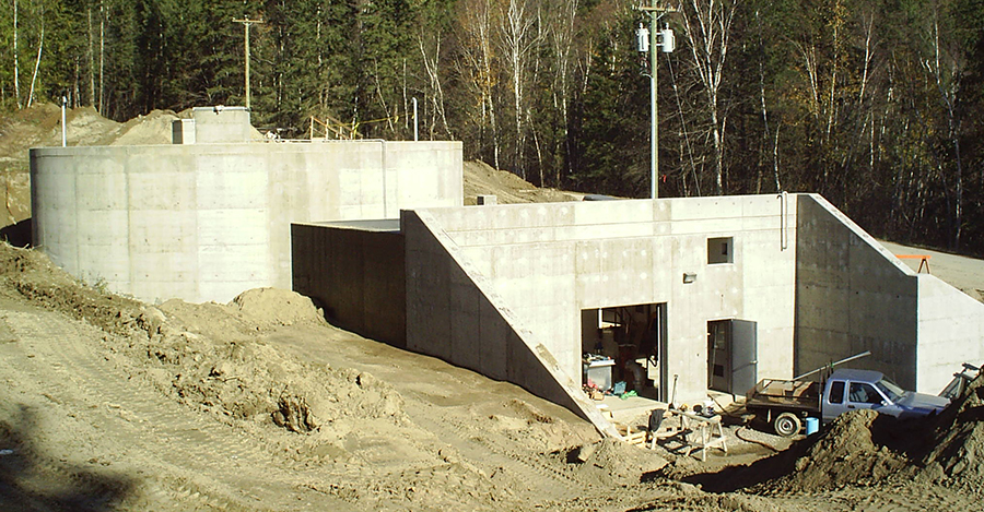 Concrete water reservoir built by Cumming Construction Ltd. Penticton BC
