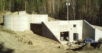 Concrete water reservoir built by Cumming Construction Ltd. Penticton BC