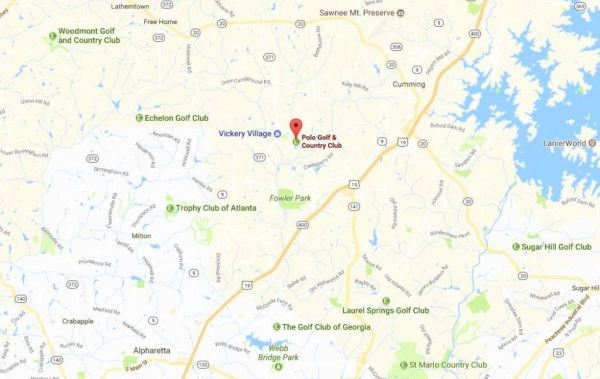 Cumming GA Map Polo Golf Location