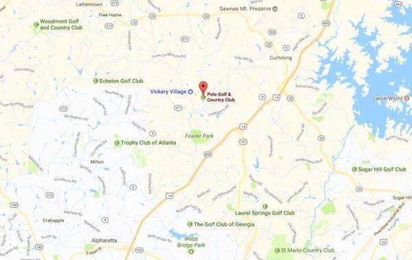Cumming GA Map Polo Golf Location