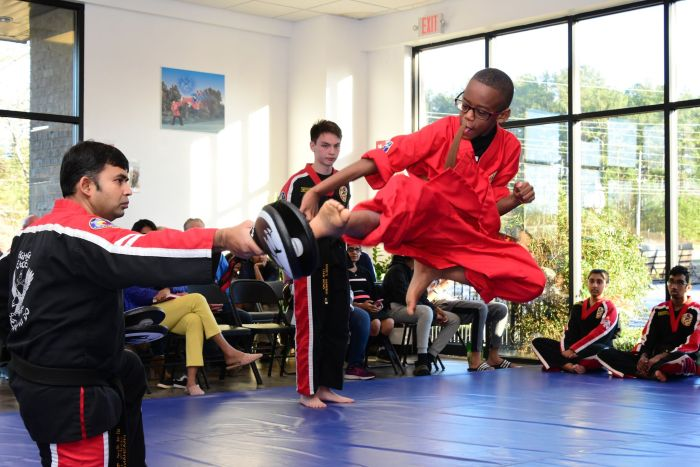 Advanced Flying Kick, Choe's HapKiDo Kids Karate Classes