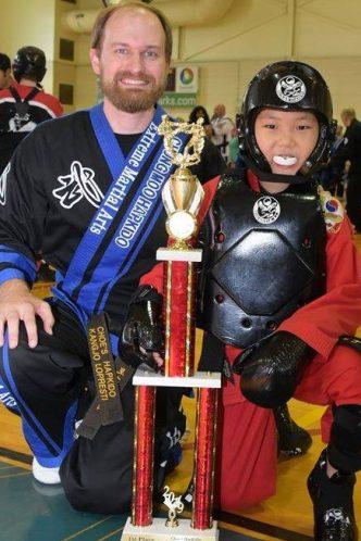 Instructor RJ LoPresti at Choe's HapKiDo Karate Cumming Georgia