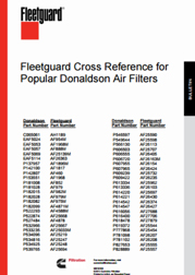 Oil Filter Cross Reference Chart Pdf : filter, cross, reference, chart, Fleetguard, Cross, Reference, Donaldson, Filters, Cummins, Filtration