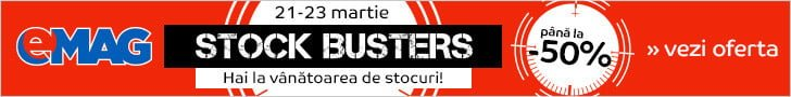 Vezi reducerile eMAG Stock Busters!