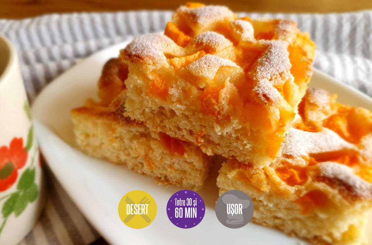 Prăjitură cu pepene galben și rozmarin