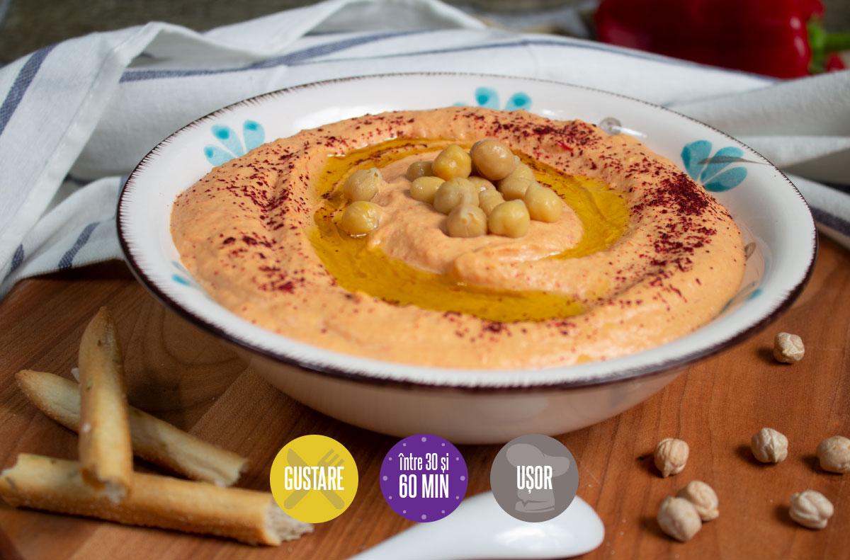 humus cu ardei copți
