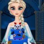 Elsa làm bánh Halloween