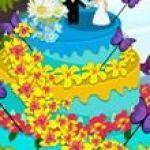Trang trí bánh cưới mùa xuân