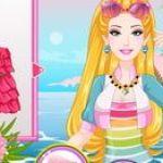 Barbie trang điểm