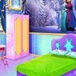 Trang trí giường cho công chúa Frozen