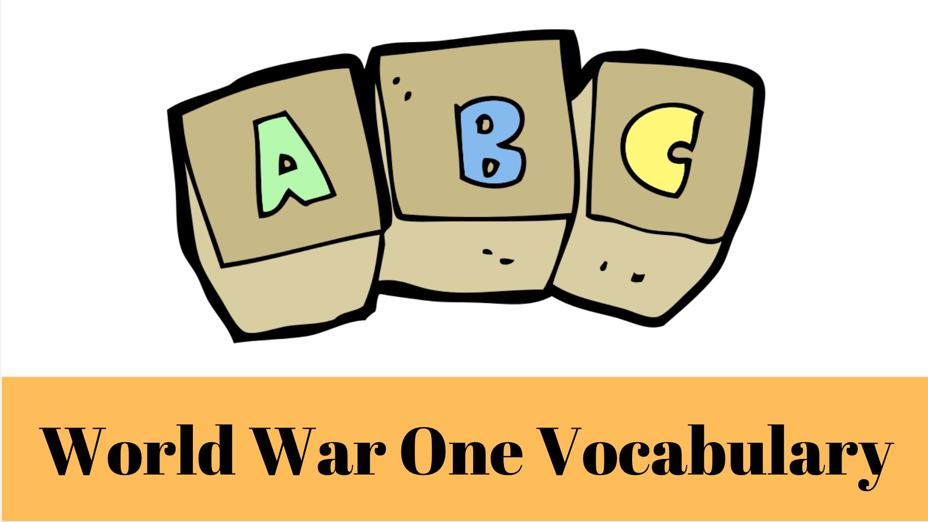 First World War Vocabulary