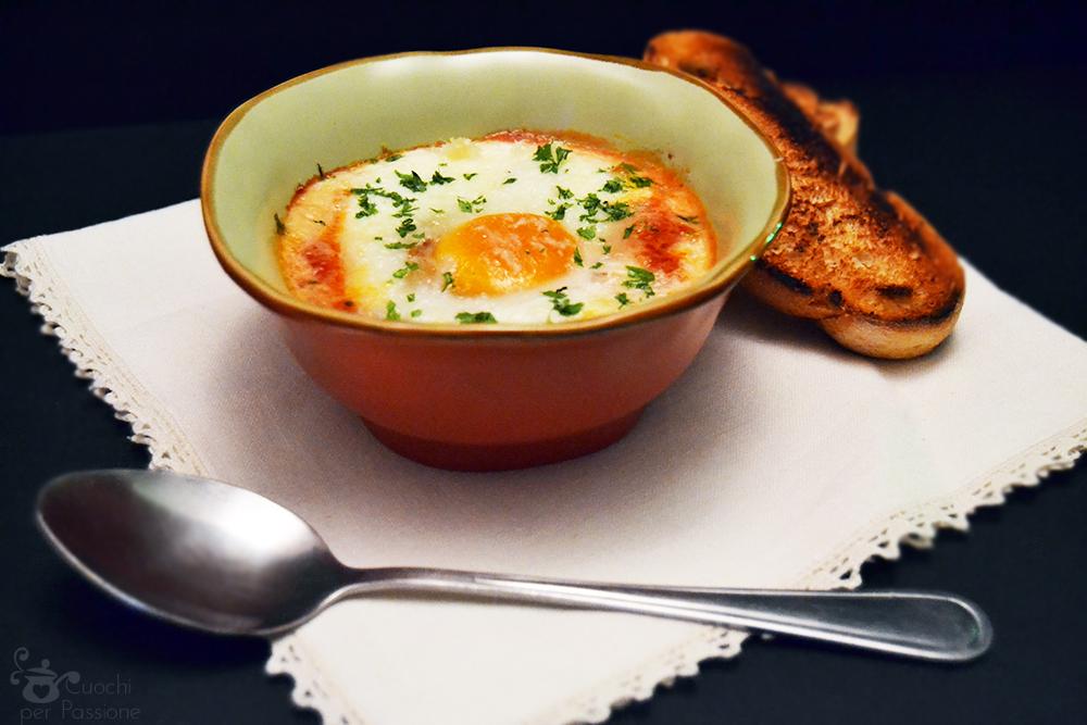 Uova al forno con Pomodoro e Mozzarella