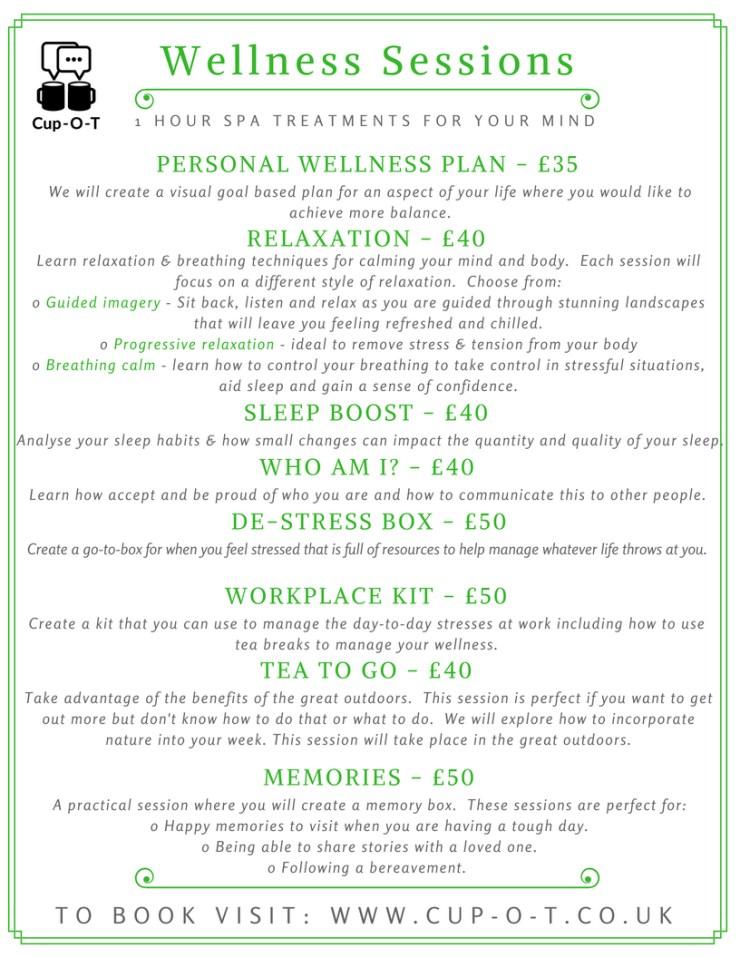 Wellness menu