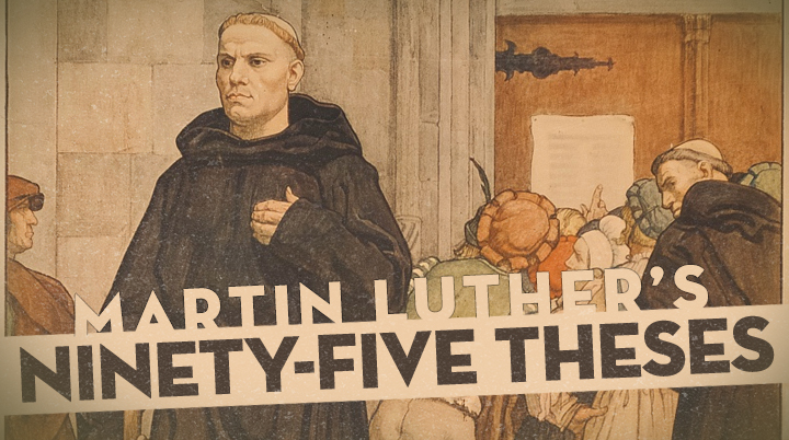 Image result for martin luther's 95 theses