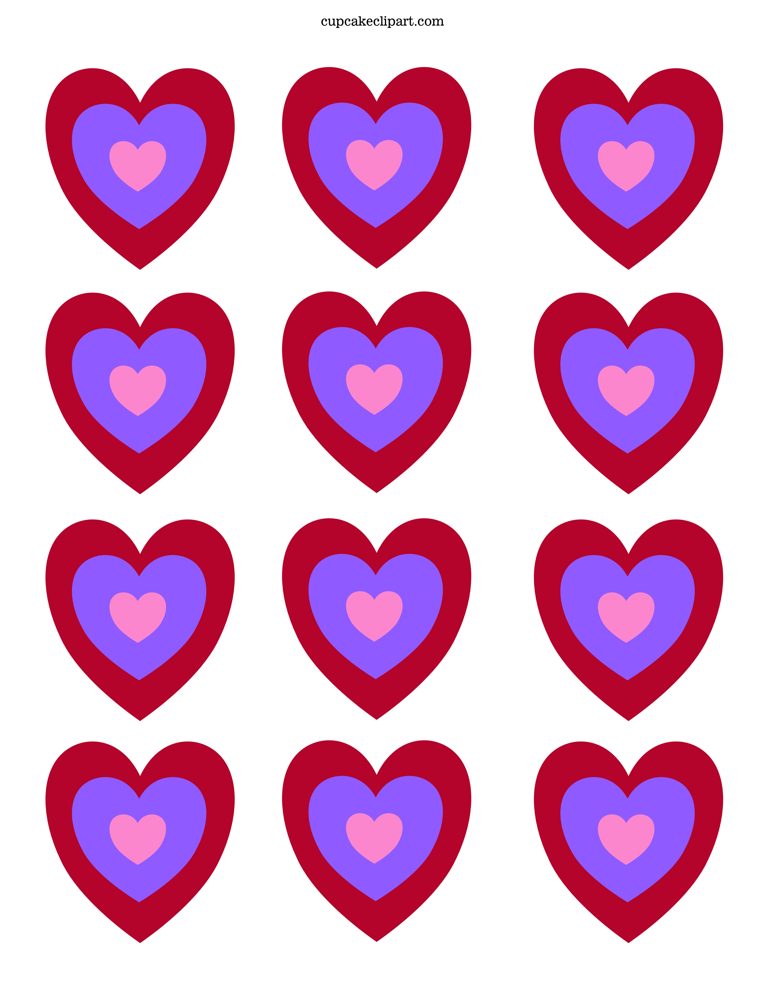 Valentine S Day Printable Cupcake Topper Cupcake Clipart