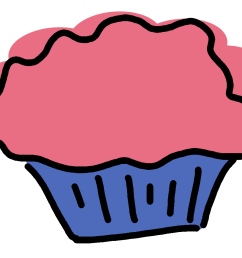 pink and purple cupcake clipart [ 1174 x 952 Pixel ]