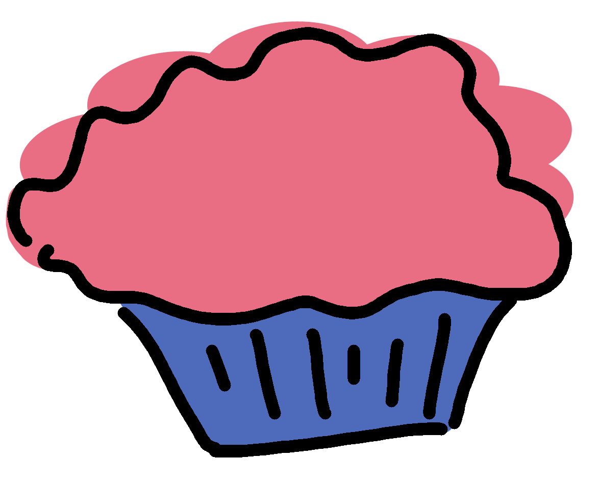 hight resolution of pink and purple cupcake clipart