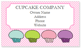 Free Cupcake Business Card Templates Cupcake Clipart