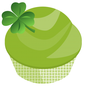 st. patricks day cupcake graphic