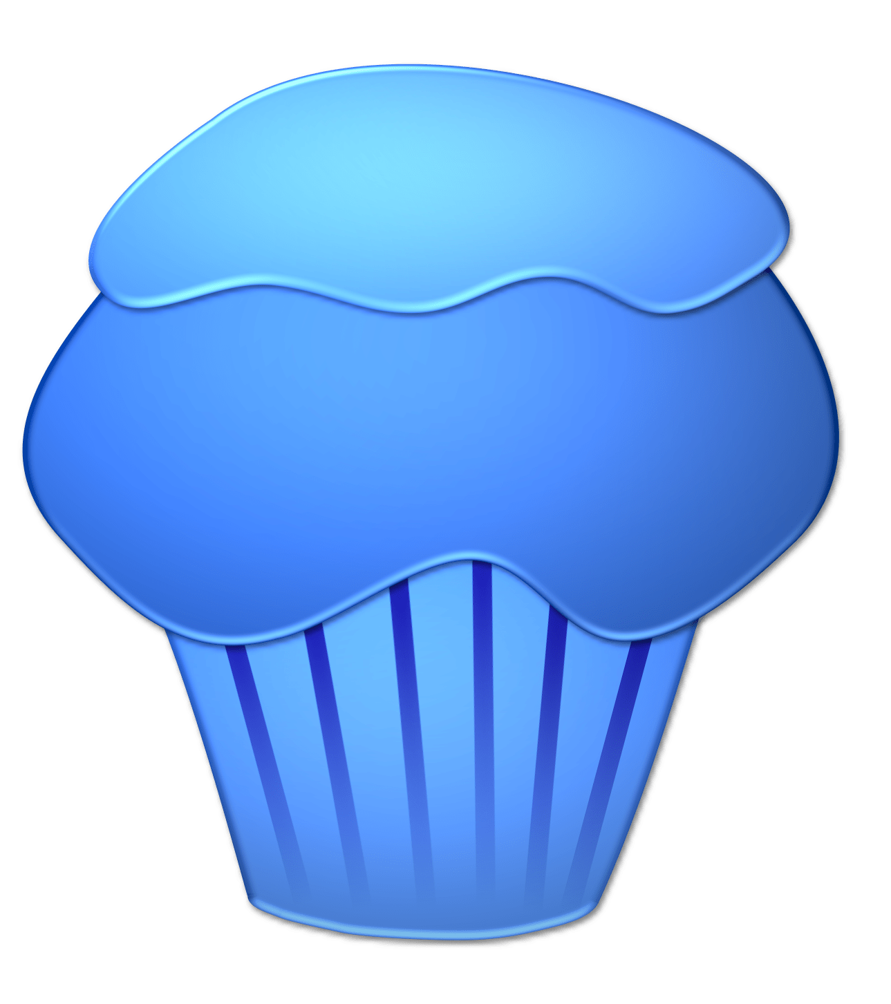 hight resolution of blueberry cupcake
