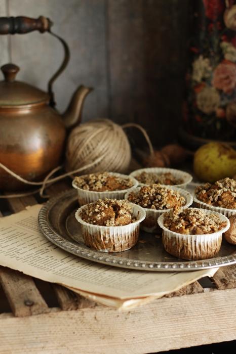 bezglutenowe muffiny gruszkowe