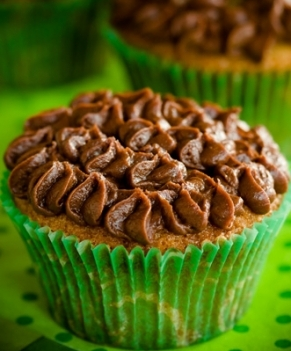 Irish Coffee Brownie Cupcakes