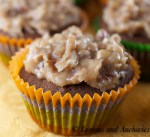Chocolate Cupcakes with Coconut Pecan Frosting