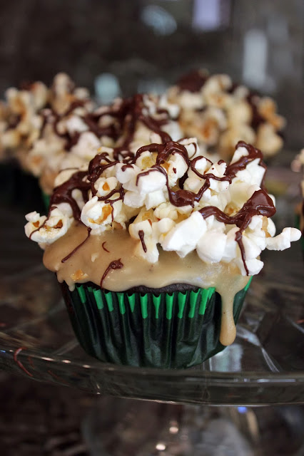Brown Butter Chocolate Popcorn Cupcakes