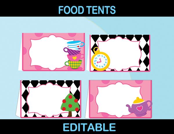 Alice In Wonderland Party Package Mad Hatter Par Tea