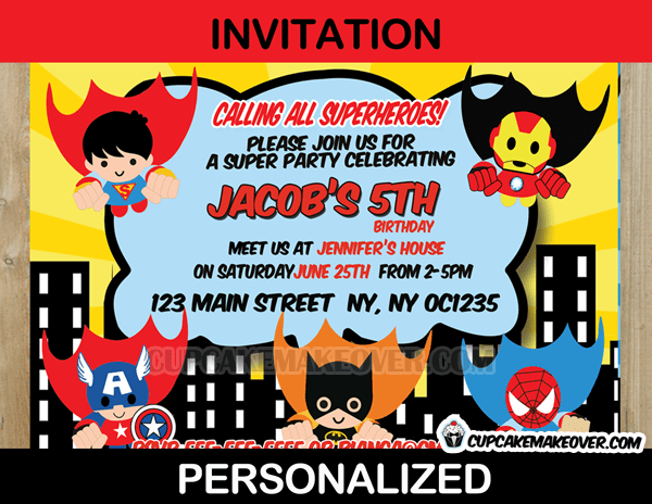 action superhero comic party yellow