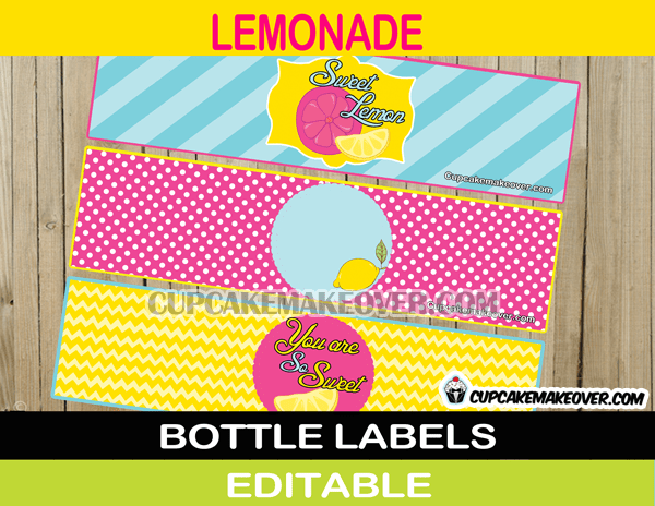 Pink Lemonade Birthday Party Package Instant Download
