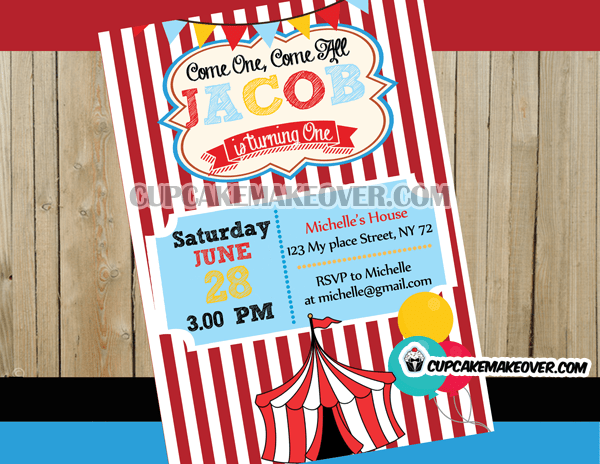 personalised circus big top magic theme
