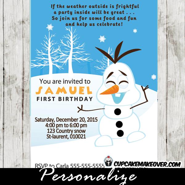 snowman birthday invitations winter