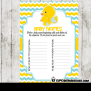 Yellow Blue Rubber Ducky Baby Shower Games Cupcakemakeover